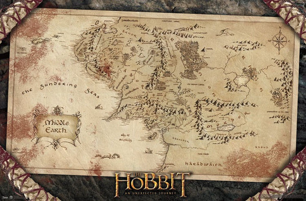The Hobbit - Map Wall Poster - Kryptonite Character Store
