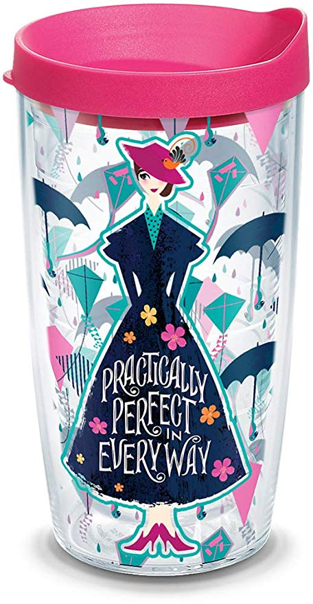 "Disney Mary Poppins ""Practically Perfect Every Way"" 24 Oz Tumbler - Kryptonite Character Store"
