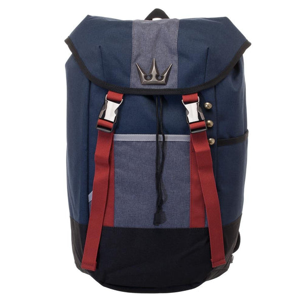 Kingdom Hearts Backpack - Navy Blue, Red, and Grey Gamer Backpack