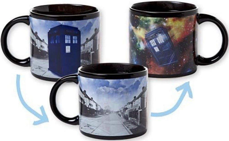 Dr. Who Heat Activated Mugs - Comes in a Fun Gift Box - Kryptonite Character Store