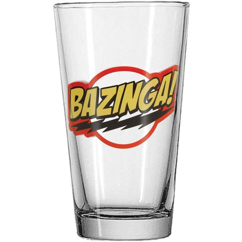 "ICUP Big Bang Theory -TV Sitcom ""Bazinga!"" Logo 16oz. Clear Pint Glass"
