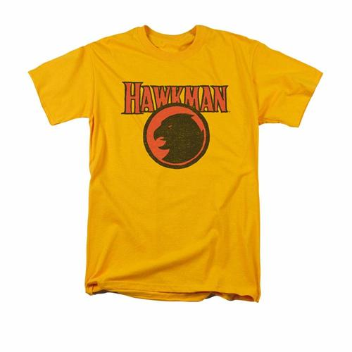 Justice League of America DC Comics Hawkman Classic Logo Faded Adult T-Shirt - Kryptonite Character Store