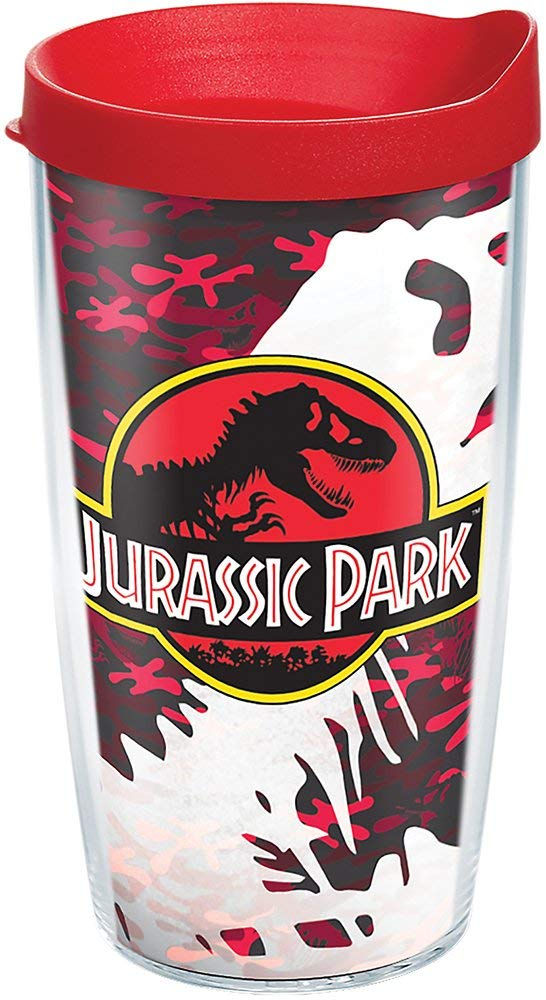 Jurassic Park Red Camo 16 oz. Tervis Tumbler - Kryptonite Character Store