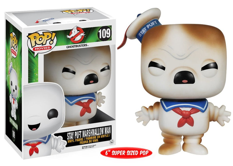 "Funko POP Movies: Toasted Stay Puft Marshmallow Man Figure, 6"" - Kryptonite Character Store"