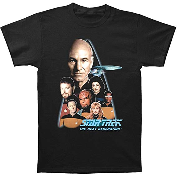 Star Trek The Next Generation Cast & Crew Picture Adult Unisex T-Shirt