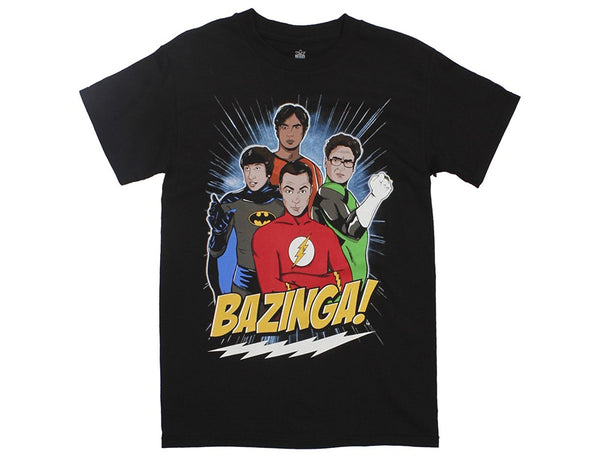 Big Bang Theory - TV - DC Superhero Group Adult Fitted T-shirt - Kryptonite Character Store