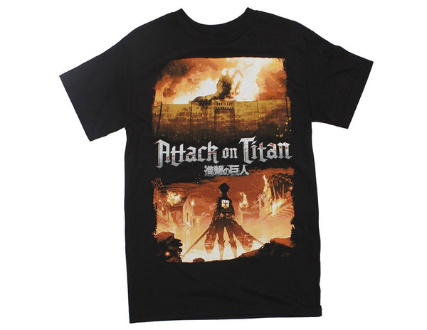 Attack on Titan Key Art Adult Fitted T-shirt Ripple Junction