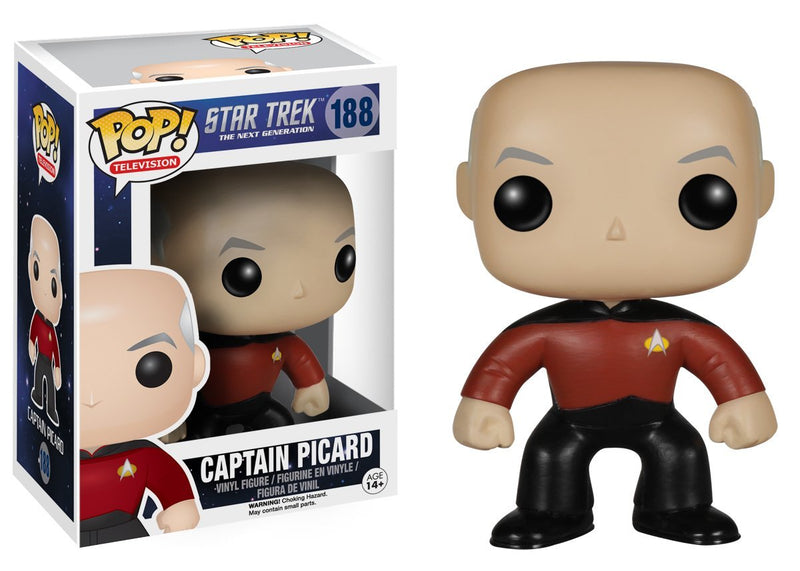 Funko POP TV: Star Trek The Next Generation - Jean-Luc Picard Action Figure - Kryptonite Character Store