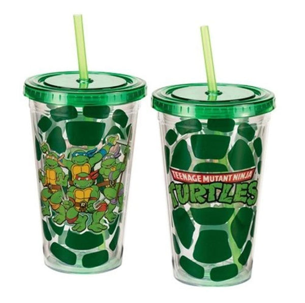 Vandor Teenage Mutant Ninja Turtles Green 18oz Tumbler with Straw