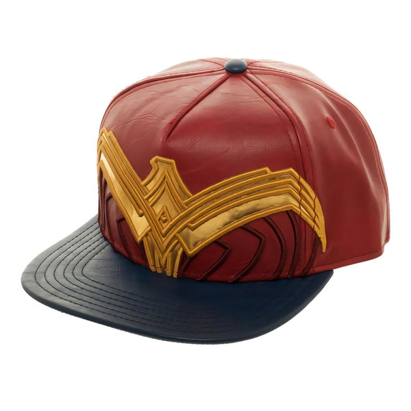 Bioworld Wonder Woman Suit Up Applique Snapback Baseball Hat - Kryptonite Character Store