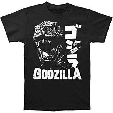 Godzilla Scream  T-shirt Black