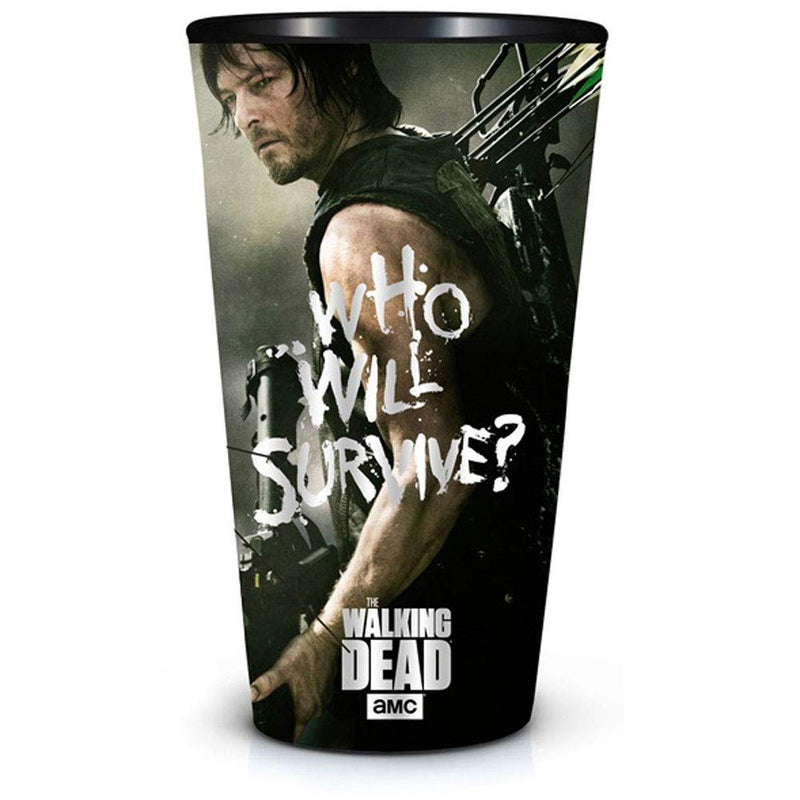 The Walking Dead Who Will Survive Daryl Pint Glass