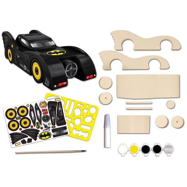 MasterPieces Batman - Batmobile Wood Paint Set