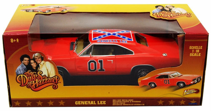 General Lee from the Dukes of Hazzard 1969 Charger 1/18 Scale
