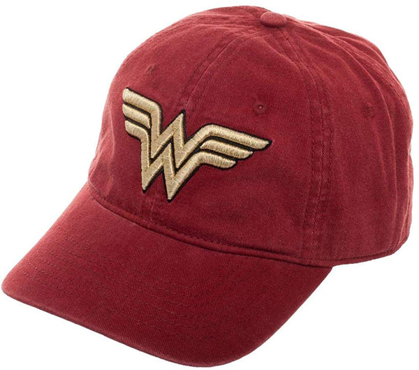 Wonder Woman Washed Red Cap Hat - Kryptonite Character Store
