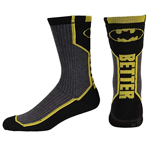 "Batman Logo Text ""Better"" Socks"