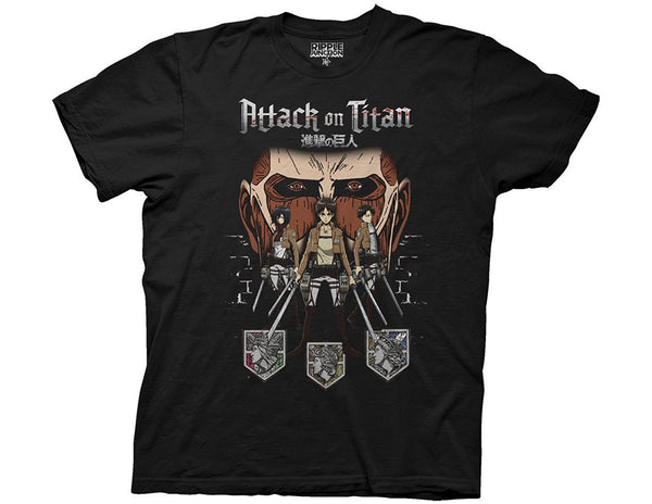 Attack On Titan - Characters Adult Fitted T-Shirt - Kryptonite Character Store
