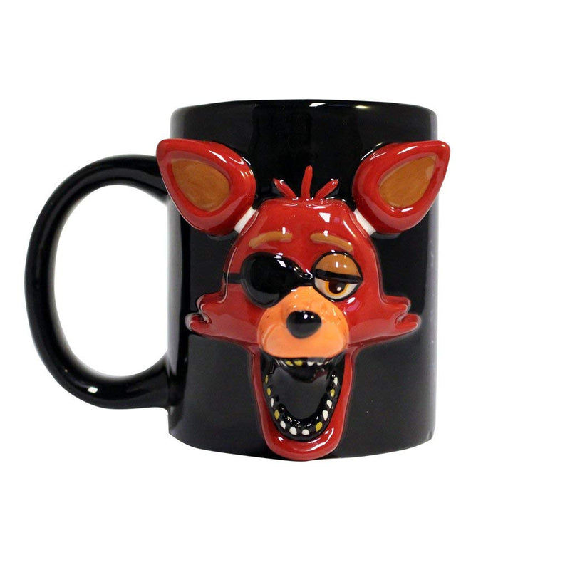 Five Nights at Freddy's Foxy Face Molded Relief Mug - Kryptonite Character Store