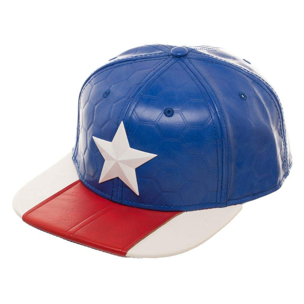 Captain America Suit Up Faux Leather Men's Hat - Kryptonite Character Store