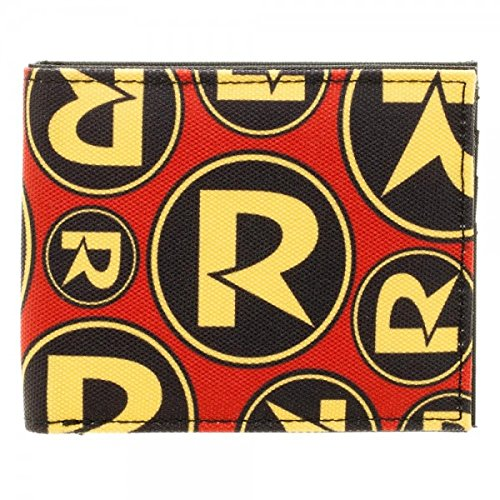 Robin Logo Canvas Bifold Wallet - Kryptonite Character Store
