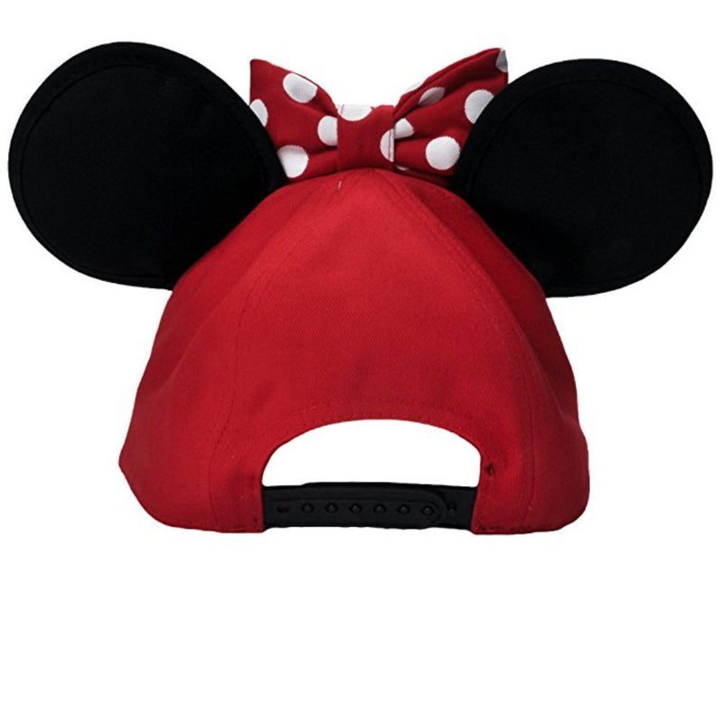 Disney Womens Minnie Mouse Cap With Bow & Ears Red - Kryptonite Character Store