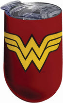 Wonder Woman Logo Stainless Tumbler, One Size, Red