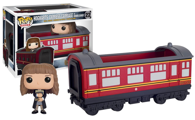 Funko POP Rides: Harry Potter - Hogwarts Express Train car with Hermione Granger Action Figure
