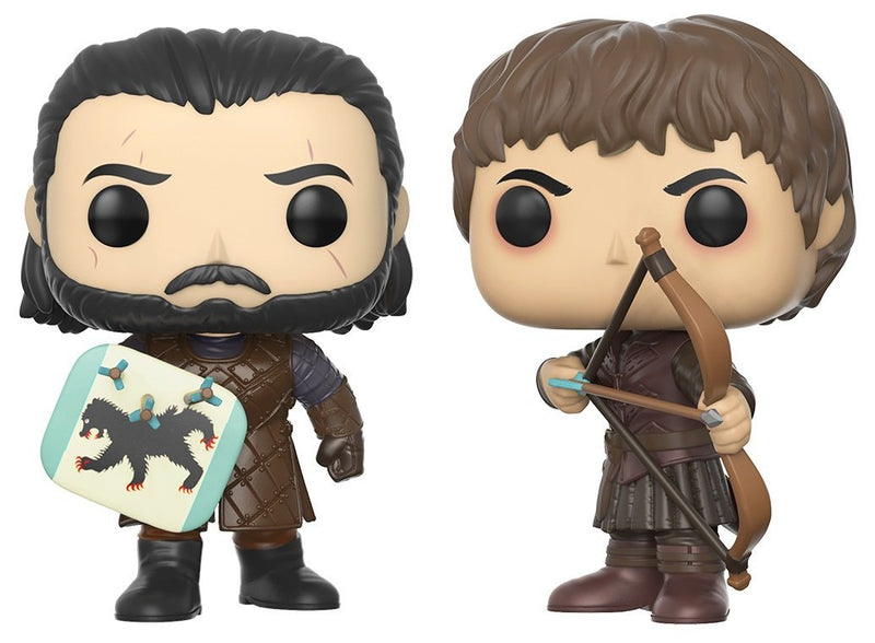 Funko Pop Game of Thrones Jon Snow & Ramsay Bolton Battle of the Bastards Collectible Figure - Kryptonite Character Store
