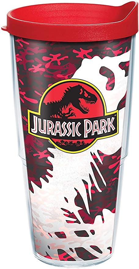 Jurassic Park Red Camo 24 oz. Tervis Tumbler