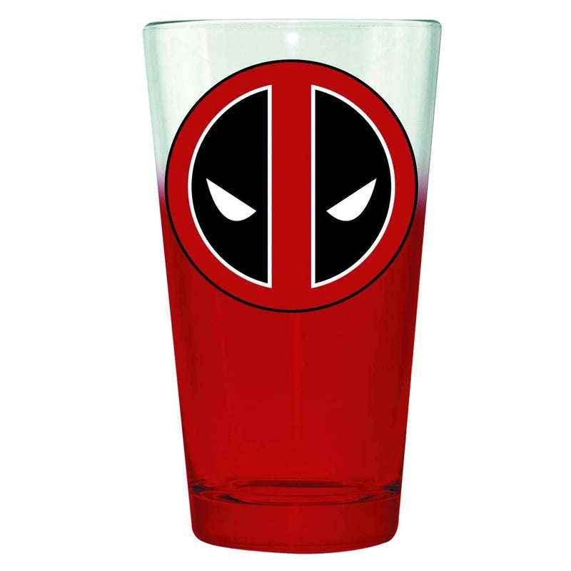Classic Imports Dead Pool Logo Marvel Pint Glass - Kryptonite Character Store