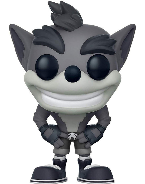 Funko Pop! Games: Crash Bandicoot - Crash Bandicoot CHASE Black & White Variant Vinyl Figure (Bundled with Pop BOX PROTECTOR CASE)