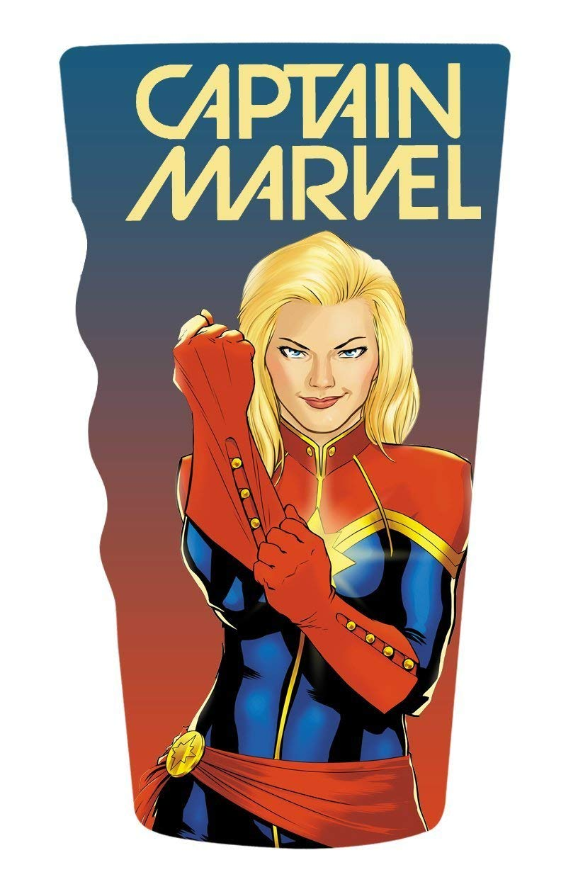 Captain Marvel Pint Glass - Kryptonite Character Store