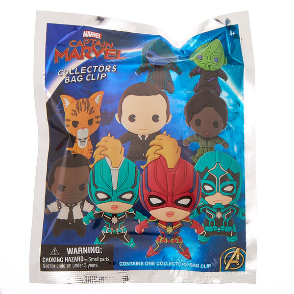 Captain Marvel 3D Figural Foam Bag Clip Mystery Pack - Kryptonite Character Store