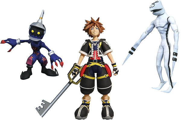 Kingdom Hearts Sora, Dusk, and Soldier Figure