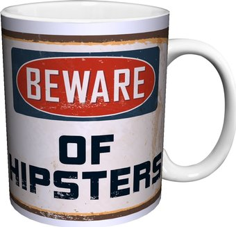 Beware of Hipsters Ceramic 11oz. Mug - Kryptonite Character Store