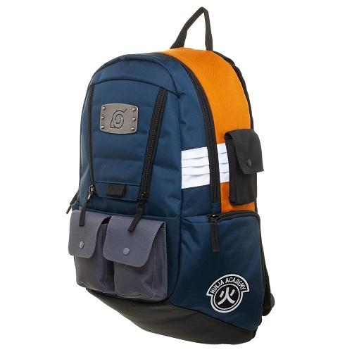 Naruto Built Up Metal Emblem Backpack