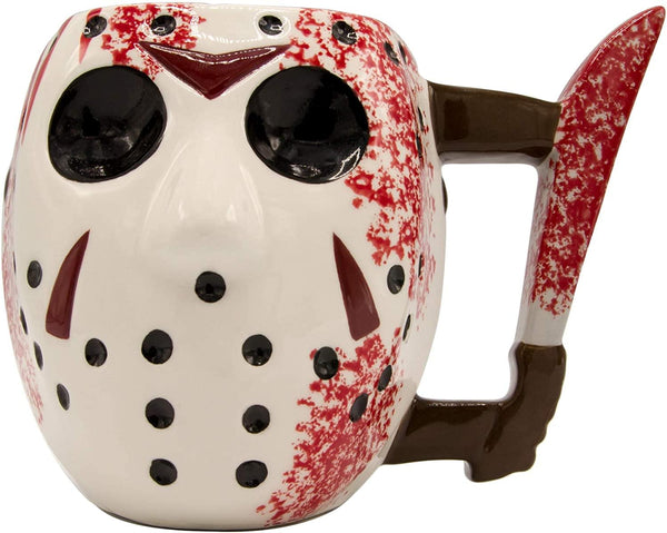 Friday 13th Jason Voorhees Mask with Knife Ceramic 3D Sculpted Mug 20oz
