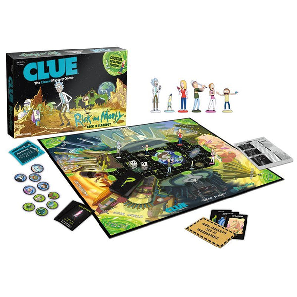 Rick and Morty Edition CLUE Board Game