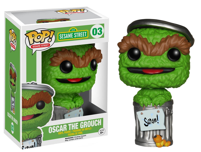 Funko POP TV: Sesame Street Oscar the Grouch Action Figure - Kryptonite Character Store