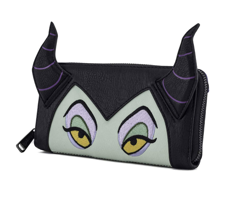 "Disney Maleficent 10.5"" Height Mini Backpack and Wallet Set by Loungefly (Multi) - Kryptonite Character Store"