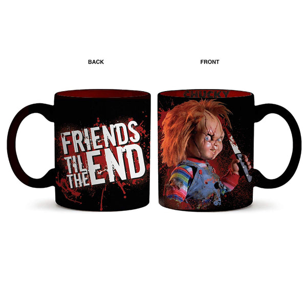 Silver Buffalo Chucky Friends Til the End Ceramic Mug, 20-oz, Multicolor