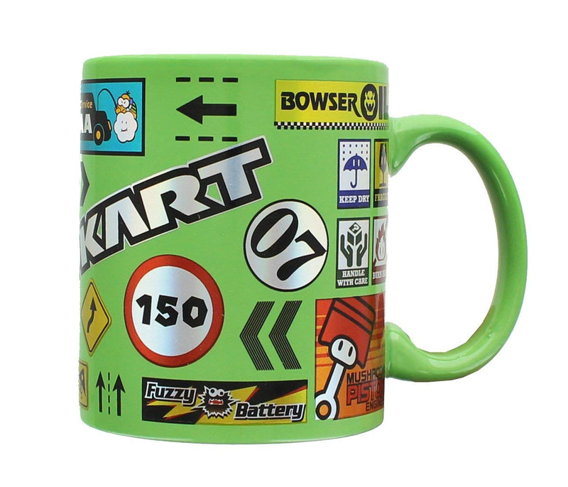 Mario Kart Green Ceramic Coffe Mug - Kryptonite Character Store