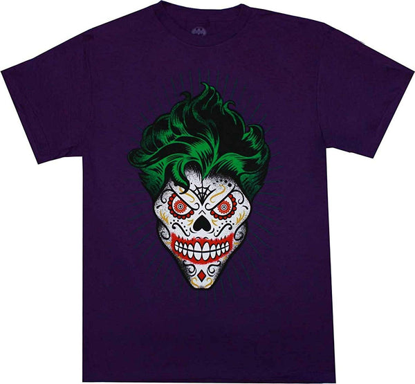 DC Comics The Joker Sugar Skull Purple Shirt