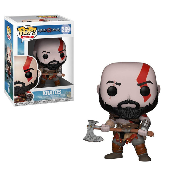 Games: God of War - Kratos with Axe Collectible Pop Figure - Kryptonite Character Store
