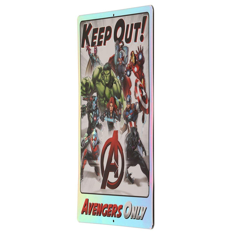 Open Road Brands Avengers Only Keep Out Prismatic Embossed Tin Sign
