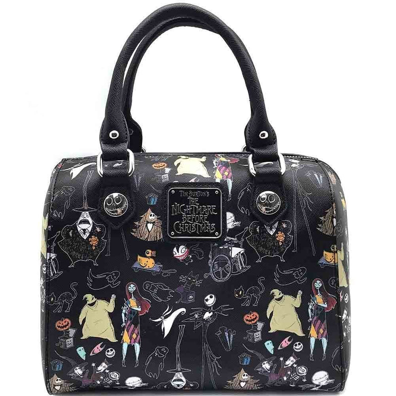 Disney Nightmare Before Christmas All Over Characters Duffle Bag