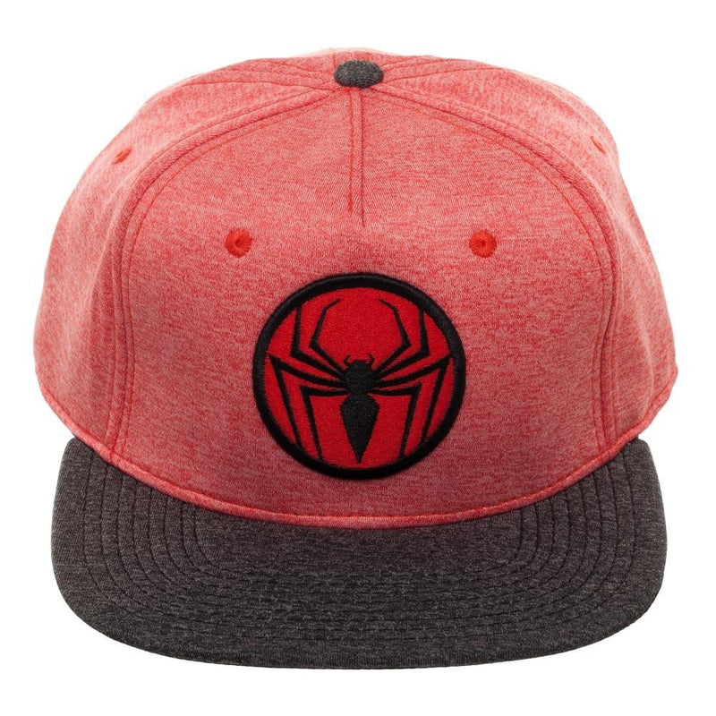 Spiderman Logo Heather Snapback Hat - Kryptonite Character Store