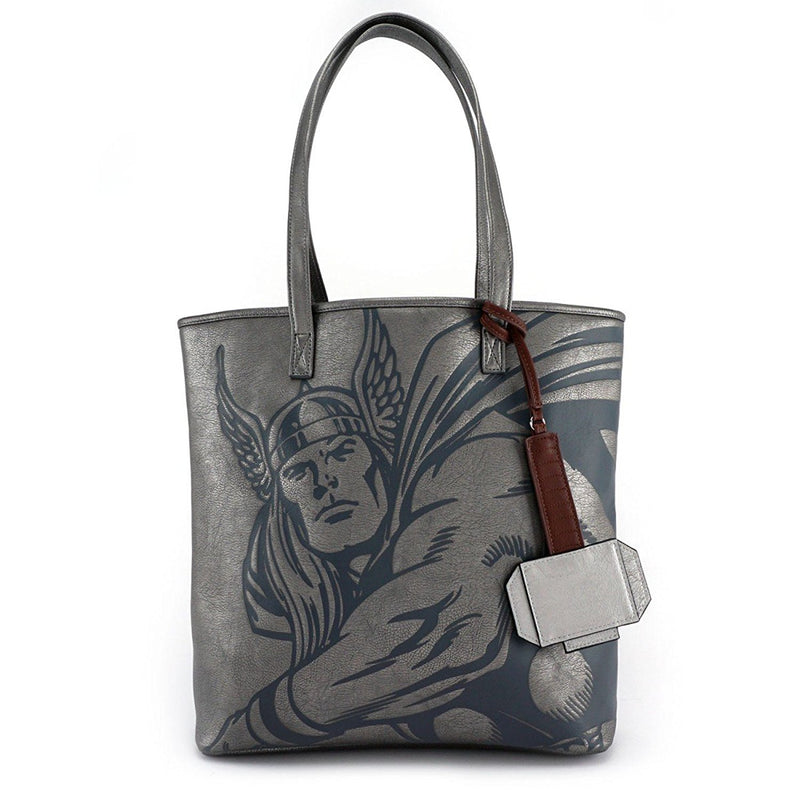 Loungefly Marvel Thor Tote Bag with Hanging Hammer