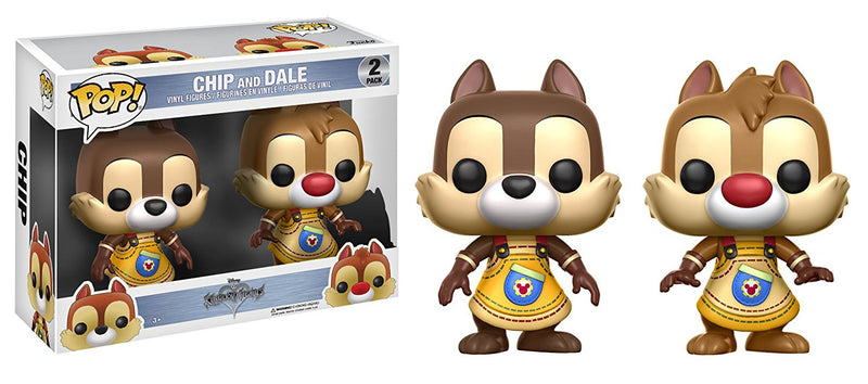 Funko POP Disney: Kingdom Hearts Chip & Dale (2 Pack) Toy Figures - Kryptonite Character Store