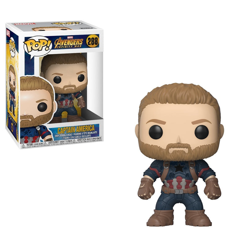 Funko Pop Marvel: Avengers Infinity War-Captain America Collectible Figure, Multicolor - Kryptonite Character Store